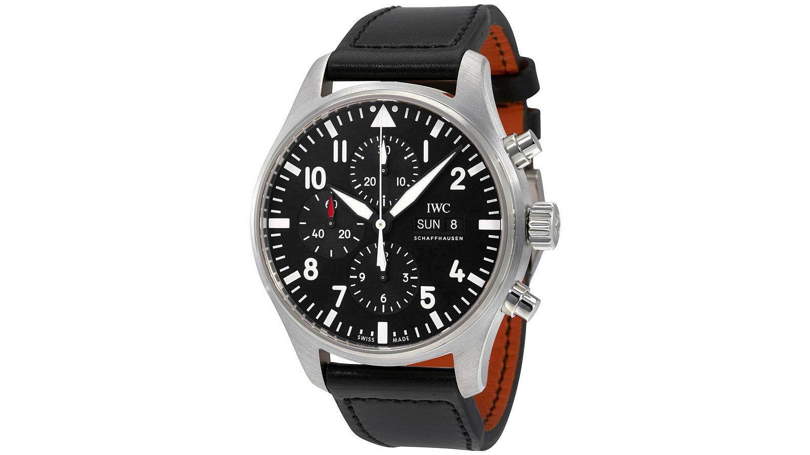 IWC Pilot Black Automatic Chronograph Men's Watch | the best pilot watches for men