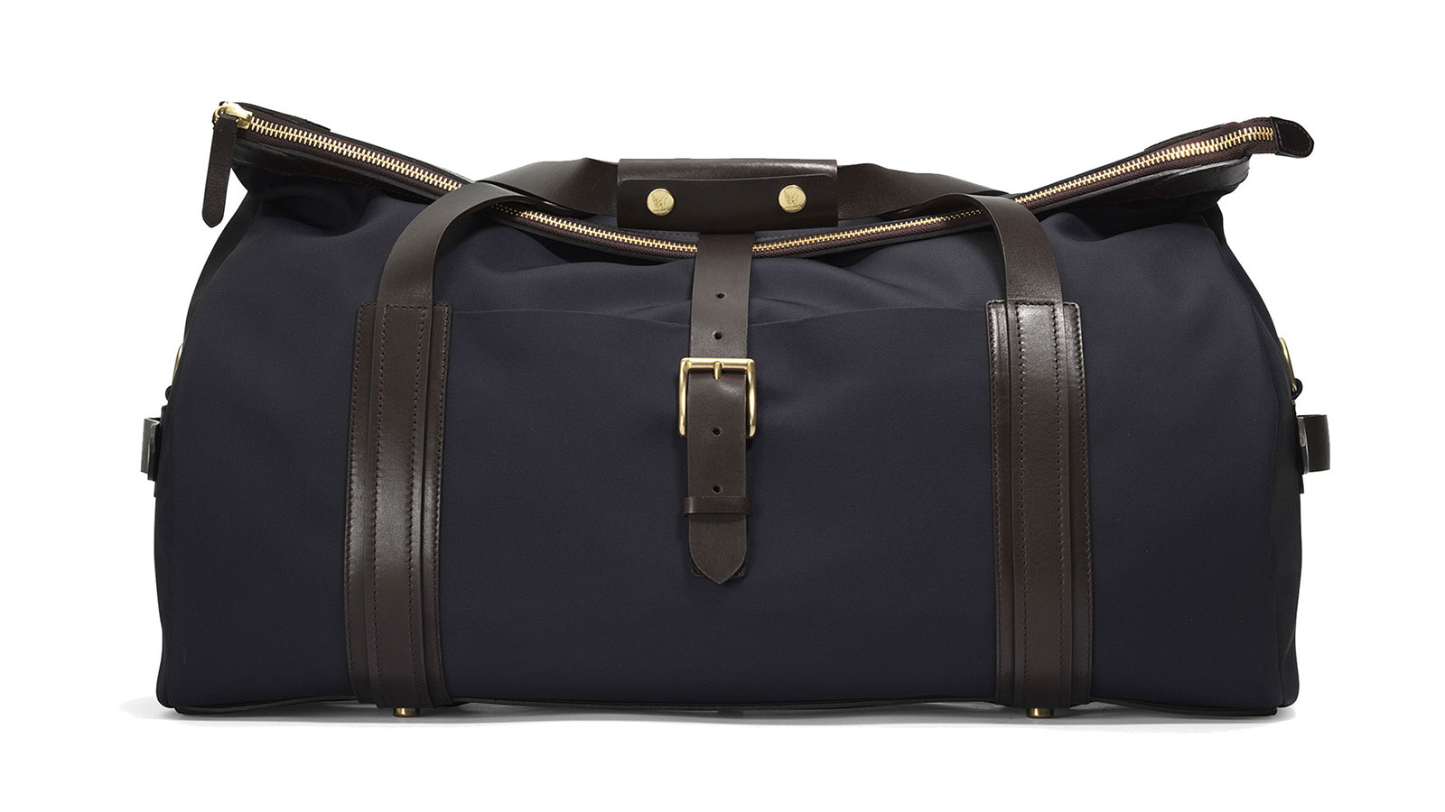 Mismo M/X Explorer Navy/Dark Brown Weekender Duffel Bag | the best weekender bags for men