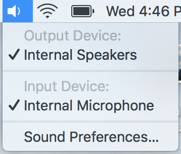 Audio Inut Output Selection