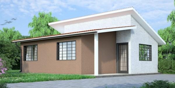 Kenya House plan for simple 2 bedroom house costing Ksh. 1.9 million only