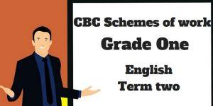 English term 2, grade one, cbc schemes of work