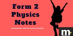 Form two physics notes