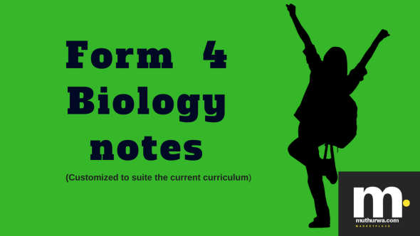 kcse form four biology notes