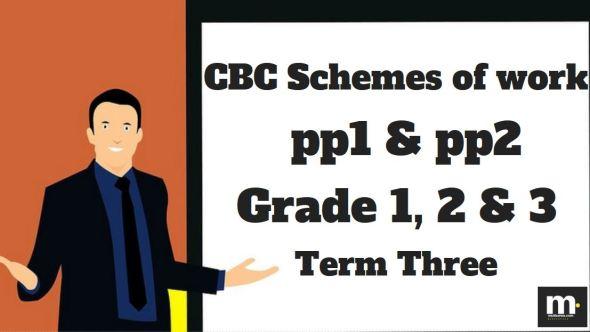English Grade 1 CBC schemes of work , Term three, free pdf download