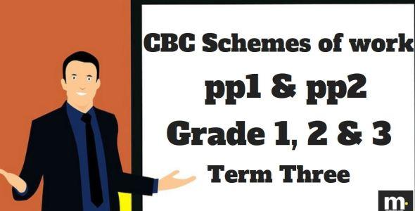 Mathematics Grade 1 CBC schemes of work , Term three, free pdf download
