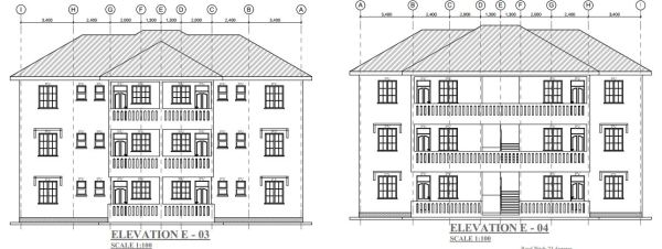 2 bedroom 2 units 3 story house plan in Kenya