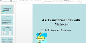 download pdf of Form 4 Mathematics Class Notes on Transformations and matrices