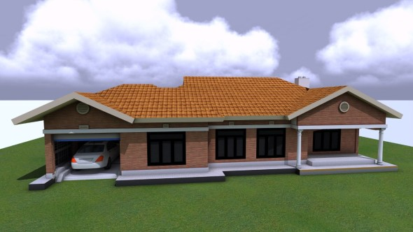 3 Bedroom With Car Garage House Plan