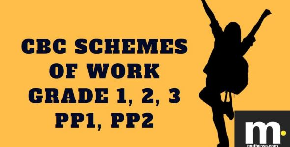 Environmental cbc schemes of work for Term 1 pp1 2019