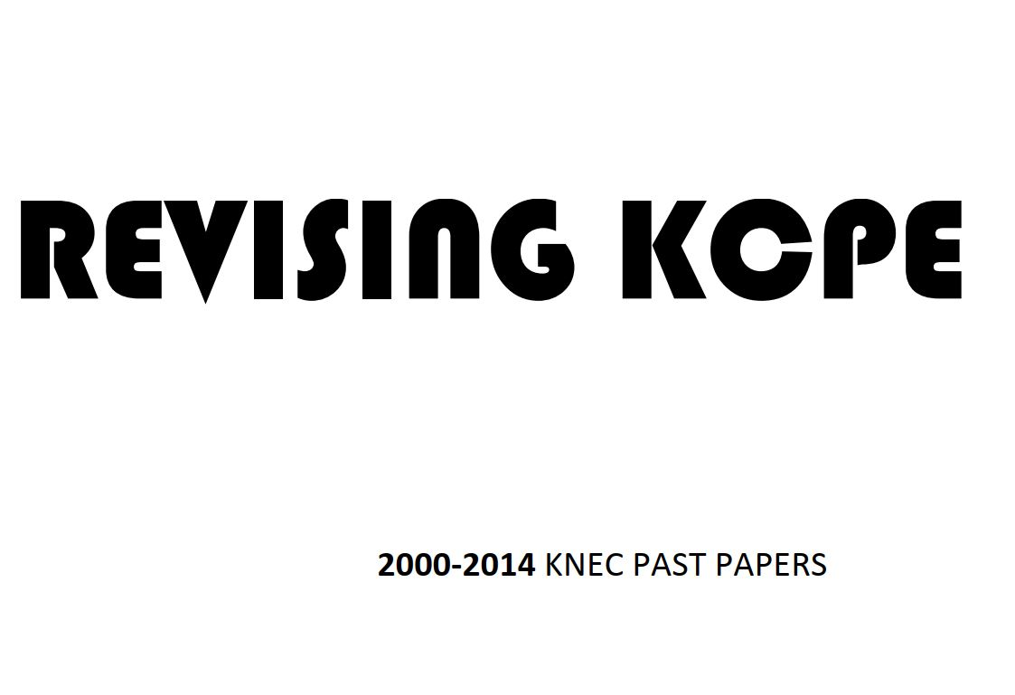 KCPE Past Papers 2017/2018