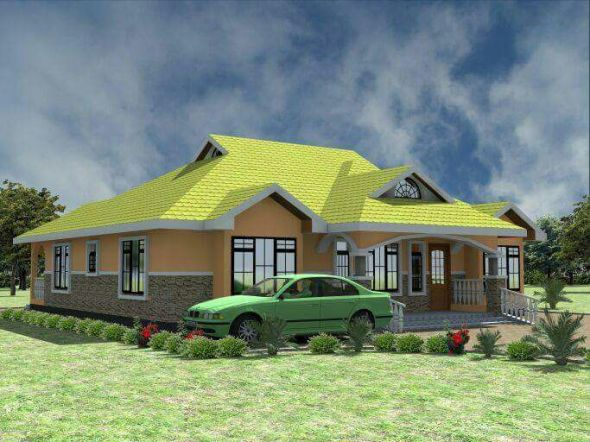 Free 3 Bedroom house plan in Kenya