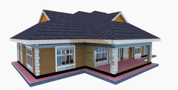 Simple 3 bedroom House Plan in Kenya for a small family
