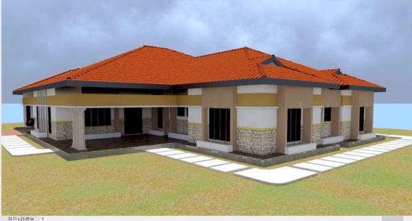 cheap 4 bedroom bungalow House Plan in kenya