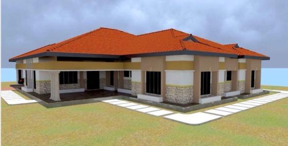 cheap 4 bedroom bungalow House Plan in kenya