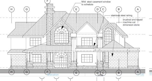3 Bedroom mansion house plan in Kenya