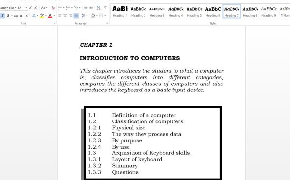 Sample Computer Form 1 Class Notes