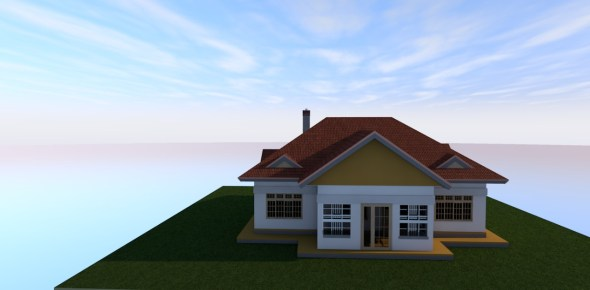 3 bedroom simple house plan for a small piece of land