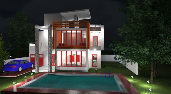 Villa apartment House plan in kenya for large family