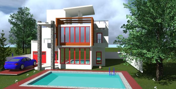Villa apartment House plan in kenya