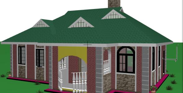 A Simple and Elegant 3 Bedroom Residential House Plan in kenya