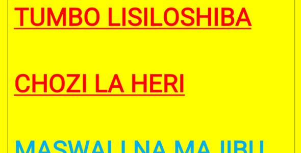 Kigogo,Tumbo Lisiloshiba, Chozi La Heri Maswali na Majibu