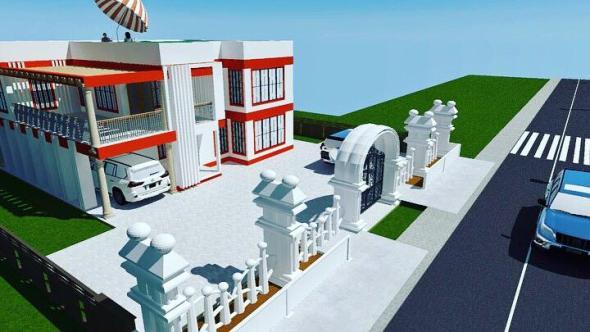Small and beautiful villa house plan