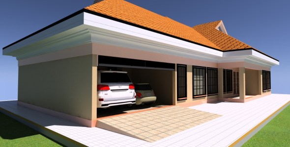 3 Bedroom house plan for quarter acre