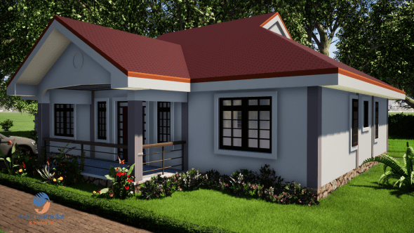 3 Bedroom House Plan with Master Ensuite