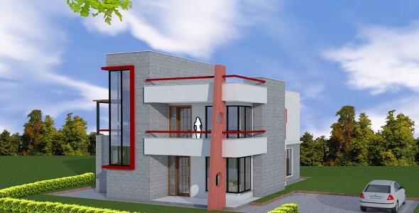 4-Bedroom Maisonette House plan