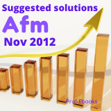 CPA Advanced financial management questions and answers (Nov 2012)