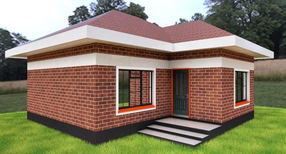 2 Bedroom Simple House Plan