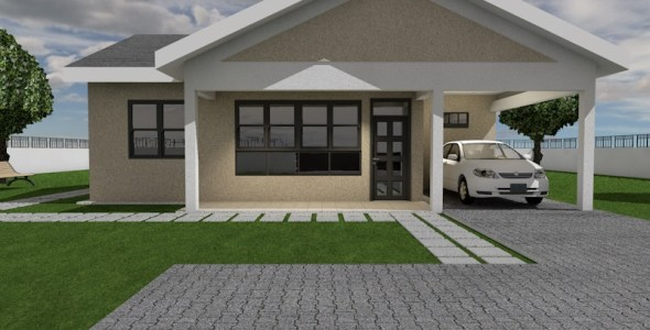 Simple and Elegant 3 Bedroom Bungalow House Plan