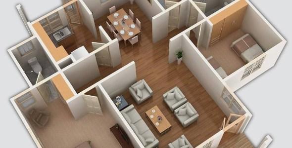 Three Bedroom Bungalow House