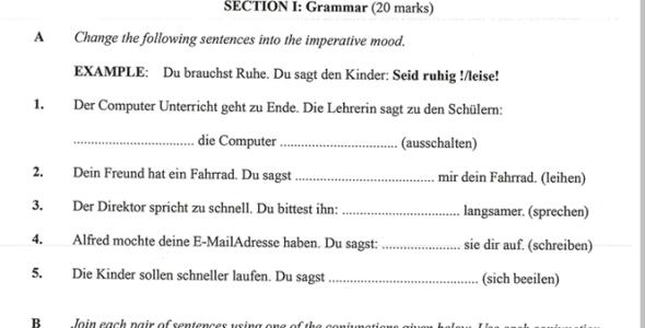 KNEC KCSE 2019 German Paper 2 (Past Paper with Marking Scheme)