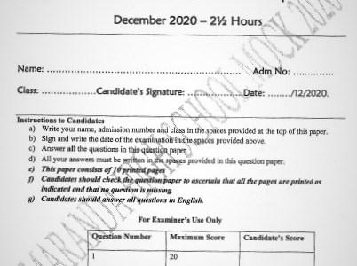 Maranda Mock English Paper 2 2020 (With Marking Scheme)