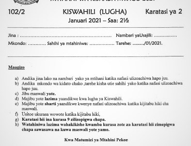 Maranda Kiswahili Paper 2 2021 (With Marking Scheme)