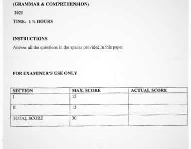 Moi Kabarak Post-Mock French Paper 2 2021 (Without Marking Scheme)