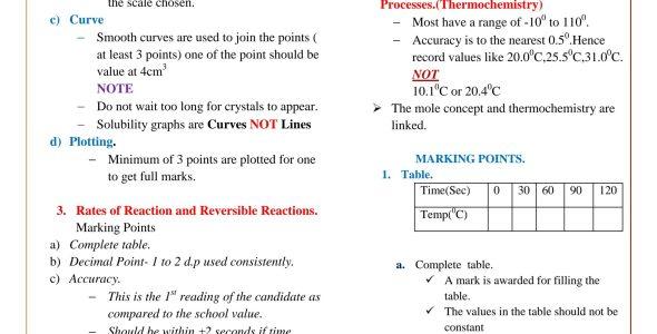 KCSE Chemistry Paper 3 Revision Manual