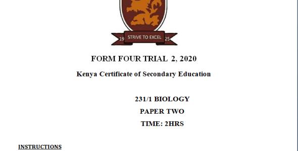 Kapsabet Mock Biology Paper 2 2021(With Marking Scheme)