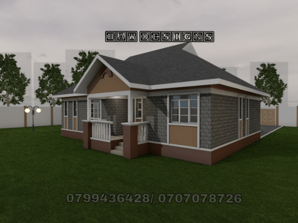 Stylish 3 Bedroom House Plan