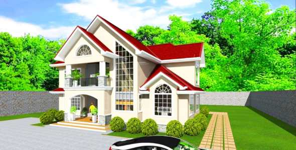 4 Bedroom Luxurious House Plan