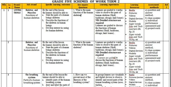 Super Minds Science and Technology Schemes of Work term 2