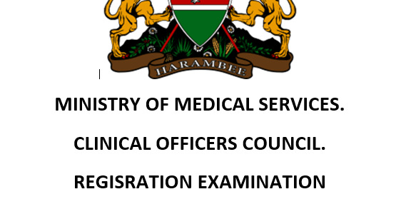 Clinical Officers Council (COC) Exam Past Paper 2012