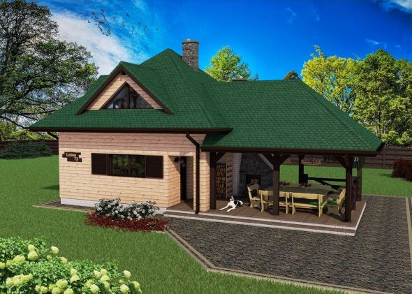2 Bedroom Mansion House Plan