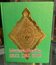 Cetak buku yasin murah cover royal hijau