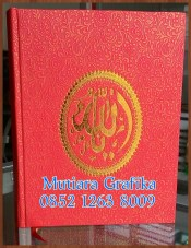 Cetak buku yasin murah cover royal merah