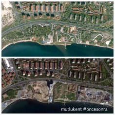 Ataköy Sahili'nde büyük çitleme