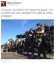 Evet, #Ferguson zaten ABD'de gündem olmadı değil mi sayın Bakan!