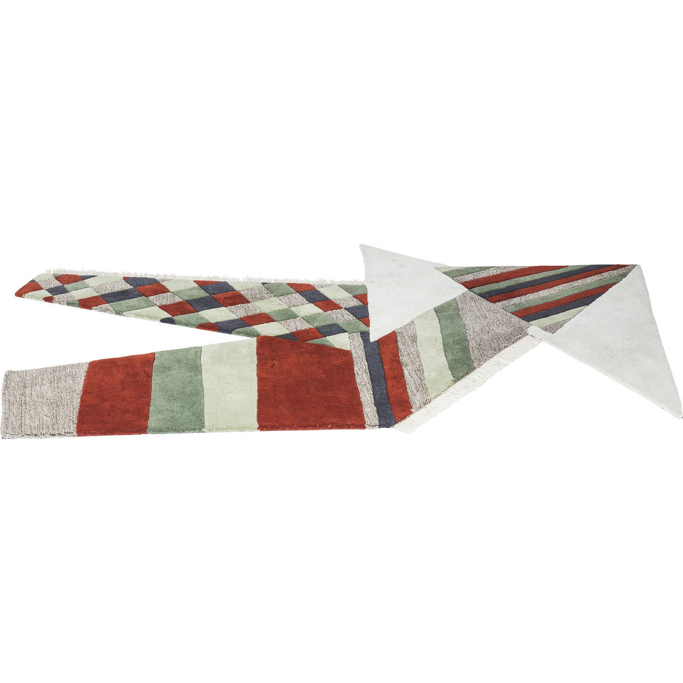 Teppich Kibek Vintage Collage Pacific Teppich Collage Origami Terra 240x170cm Kare Design