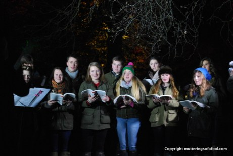 Carol singers in their finest Barbour